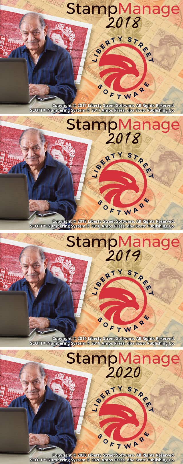 Kilpailutyö #39 kilpailussa Splash Screen For Our Stamp Collecting Software