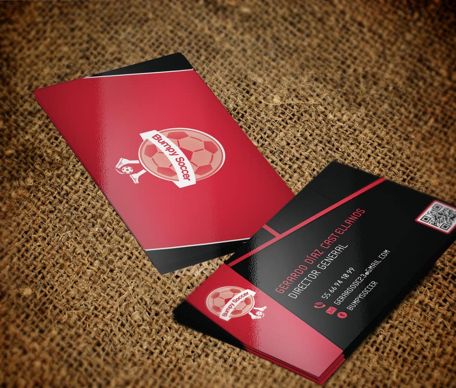 Entry #28 by yassminbel for Design business card for Bumpy Soccer ...