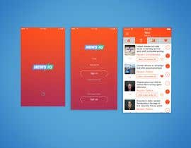 Nro 4 kilpailuun Design logo and splash/loading screen for News App käyttäjältä fb5708f5bb11a91