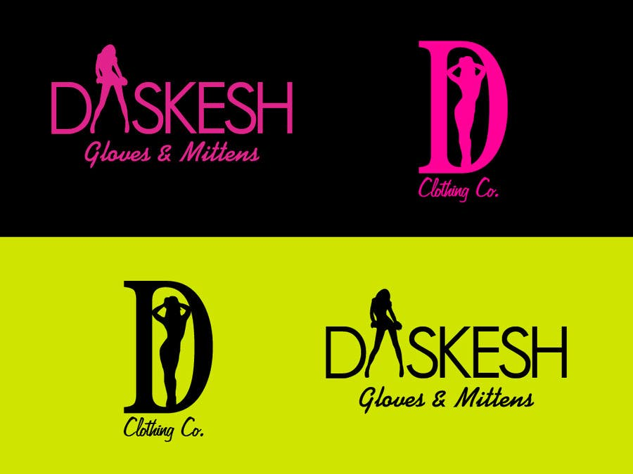 Konkurrenceindlæg #                                        27                                      for                                         Logo Design for Daskesh Clothing company, specifically for gloves/mittens