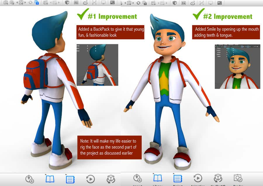 Entry #19 by jackevo for Improve 3D Character for Mobile Game