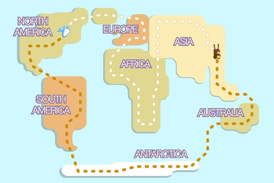 Entry 3 by wolfcubdesigns for bunny bear app world map designed to participacin en el concurso nro3 para bunny bear app world map designed to keep gumiabroncs Choice Image