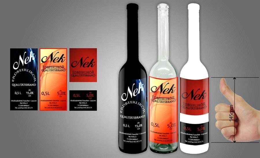 Bài tham dự cuộc thi #80 cho Graphic Design- Label for fruit liqueur.