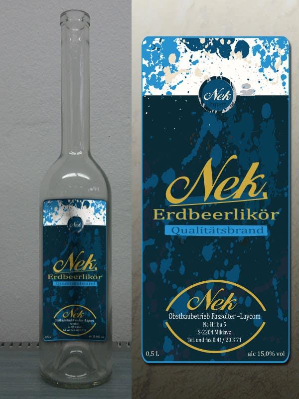 Kilpailutyö #147 kilpailussa Graphic Design- Label for fruit liqueur.