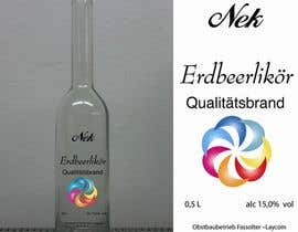 #82 untuk Graphic Design- Label for fruit liqueur. oleh mirceabaciu