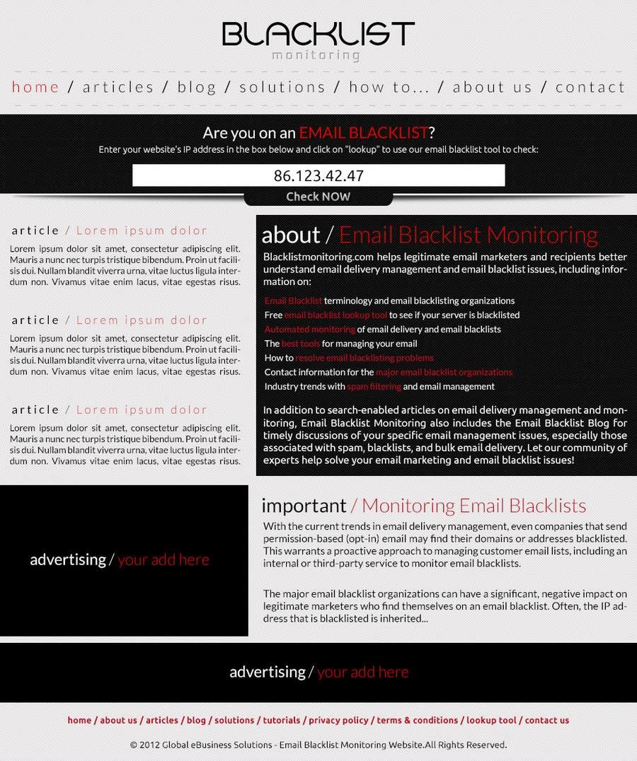 Konkurrenceindlæg #43 for Website Design for Global eBusiness Solutions, Inc. (Blacklist Monitoring Website)