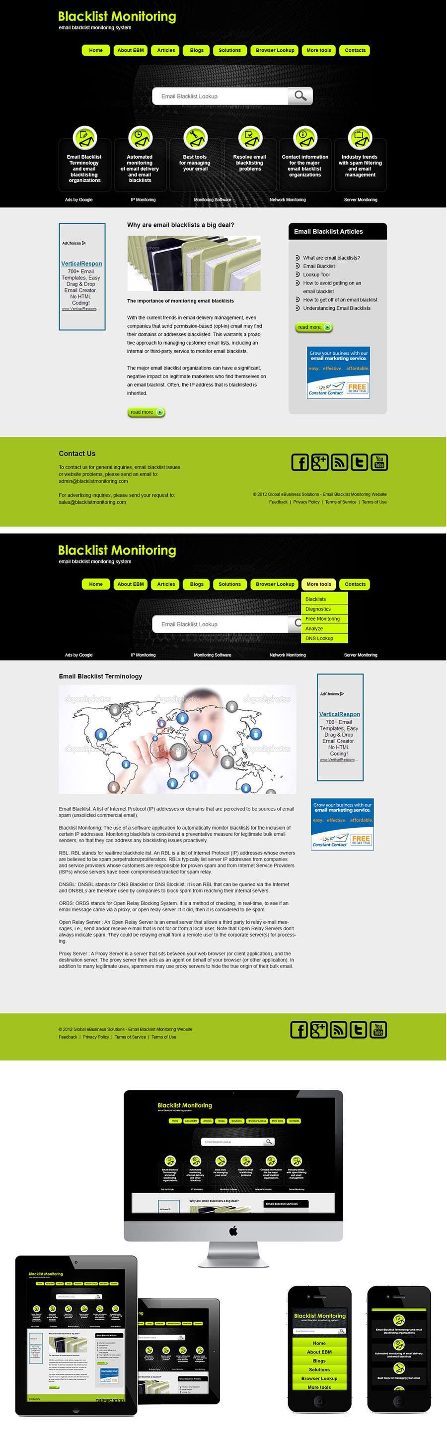Konkurrenceindlæg #46 for Website Design for Global eBusiness Solutions, Inc. (Blacklist Monitoring Website)