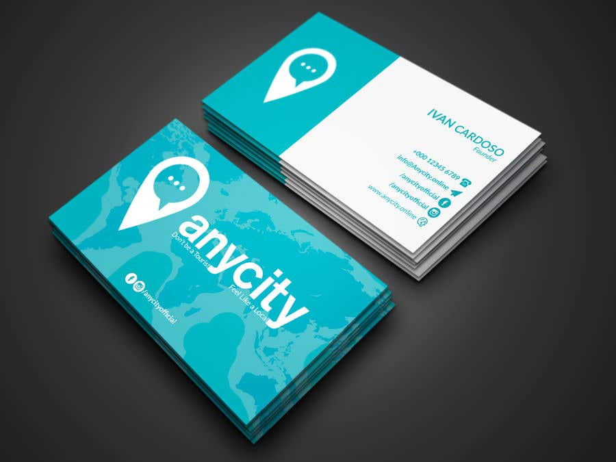 Entry #289 by shajeeb1952 for Design a Business Card for a travel ...
