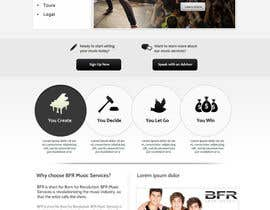 #39 untuk Website Design for BFR Music Services oleh SadunKodagoda