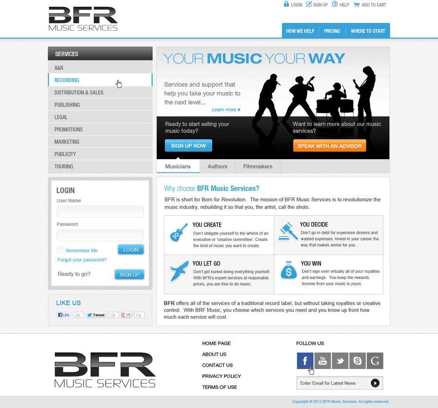 Inscrição nº                                         45                                      do Concurso para                                         Website Design for BFR Music Services