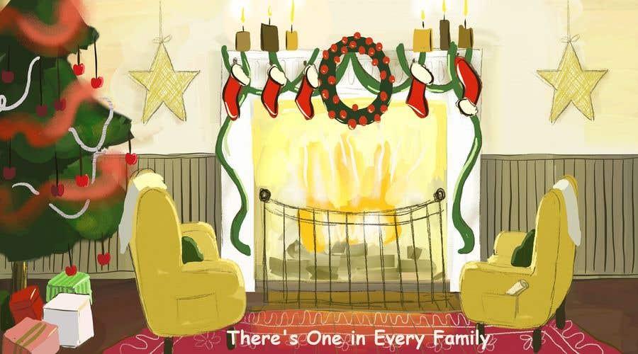 Entry #30 by cvarjotie for Christmas Fireplace Scene