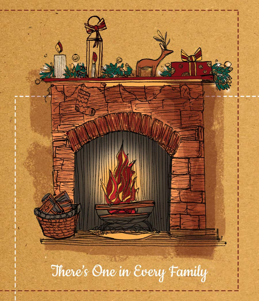 Entry #15 by francescaprovero for Christmas Fireplace Scene
