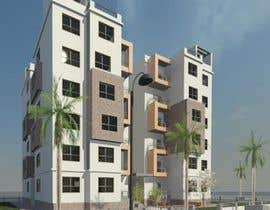 HagarSabryH tarafından I need a 3d view & perspective of my building plan, with elevation options. için no 18