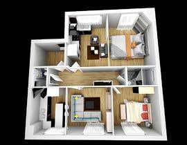 Egabor8 tarafından I need a 3d view & perspective of my building plan, with elevation options. için no 21