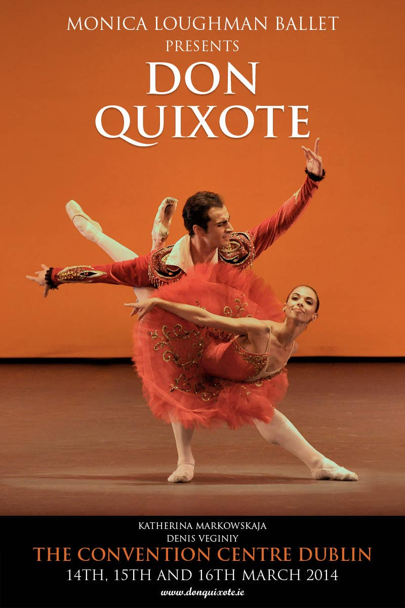 #243 for Graphic Design for Classical ballet event called Don Quixote by GDesignGe