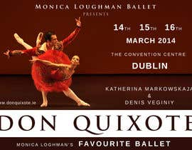 nº 183 pour Graphic Design for Classical ballet event called Don Quixote par foenlife