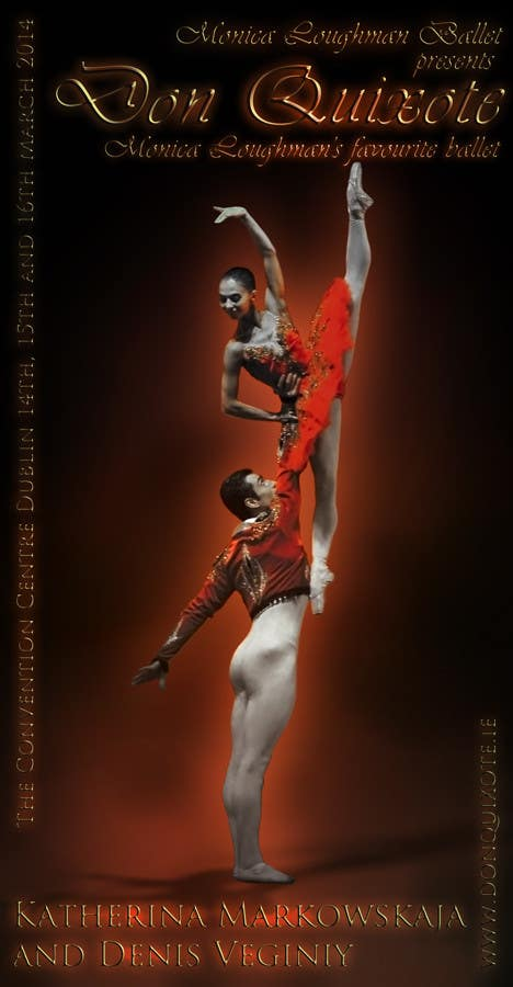 Contest Entry #39 for Graphic Design for Classical ballet event called Don Quixote