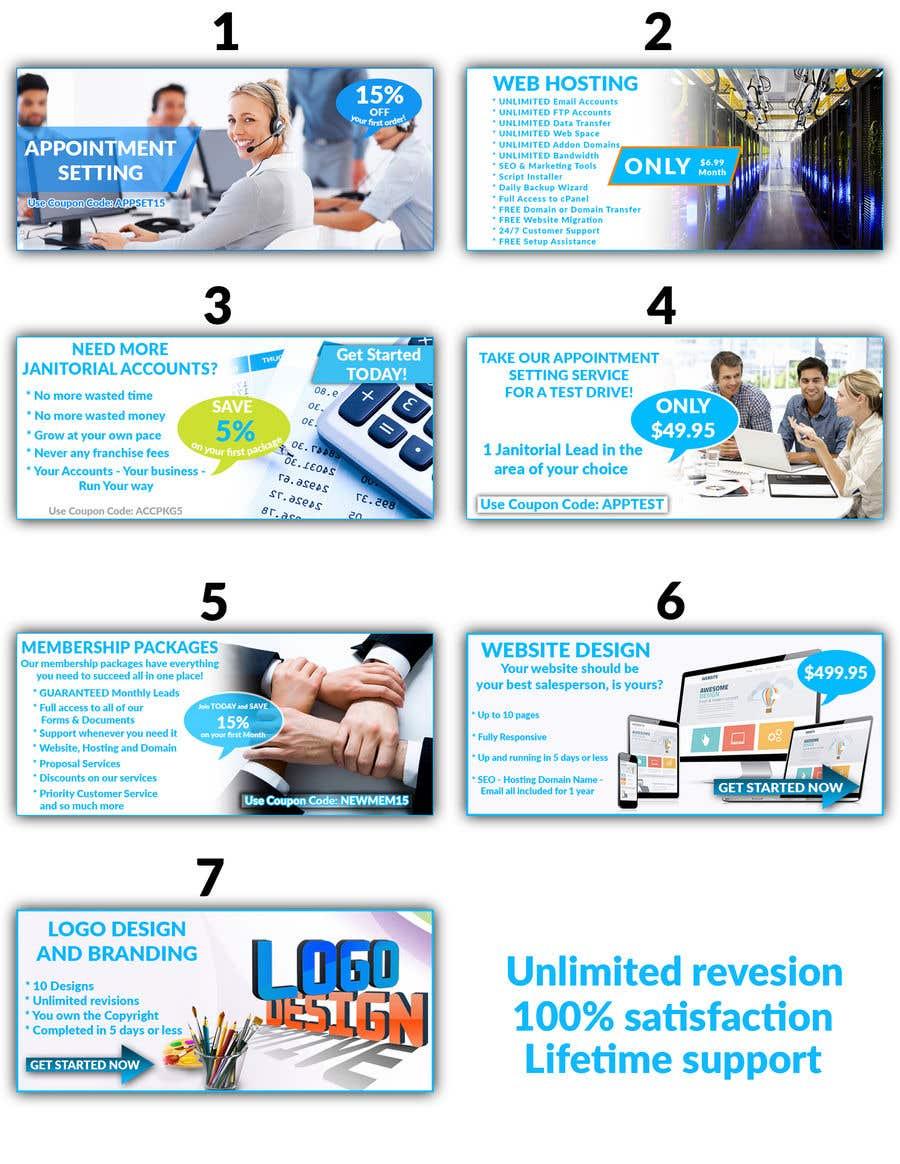 Konkurrenceindlæg #65 for Design 7 Advertising Banners