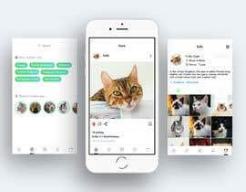 Nro 8 kilpailuun Design a mockup for an app like Instagram käyttäjältä jeniroxy