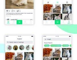 Nro 17 kilpailuun Design a mockup for an app like Instagram käyttäjältä jeniroxy