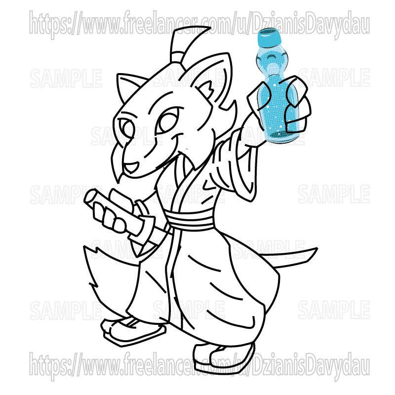 Contest Entry #43 for Design a cartoon character for RAMUNE LEMONADE