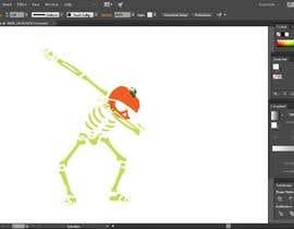 #5 for Pumpkin skeleton Dabbing Drawing by rabbykhan08
