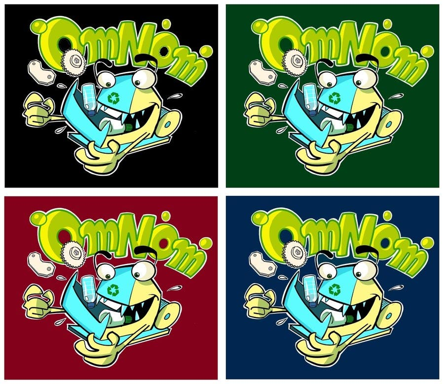 #35 for Looking for an illustrative or cartoonish style logo For the name OmNom. by artinearth