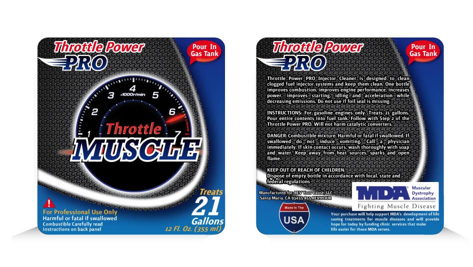 #11 for Print & Packaging Design for Throttle Muscle by theideascrew