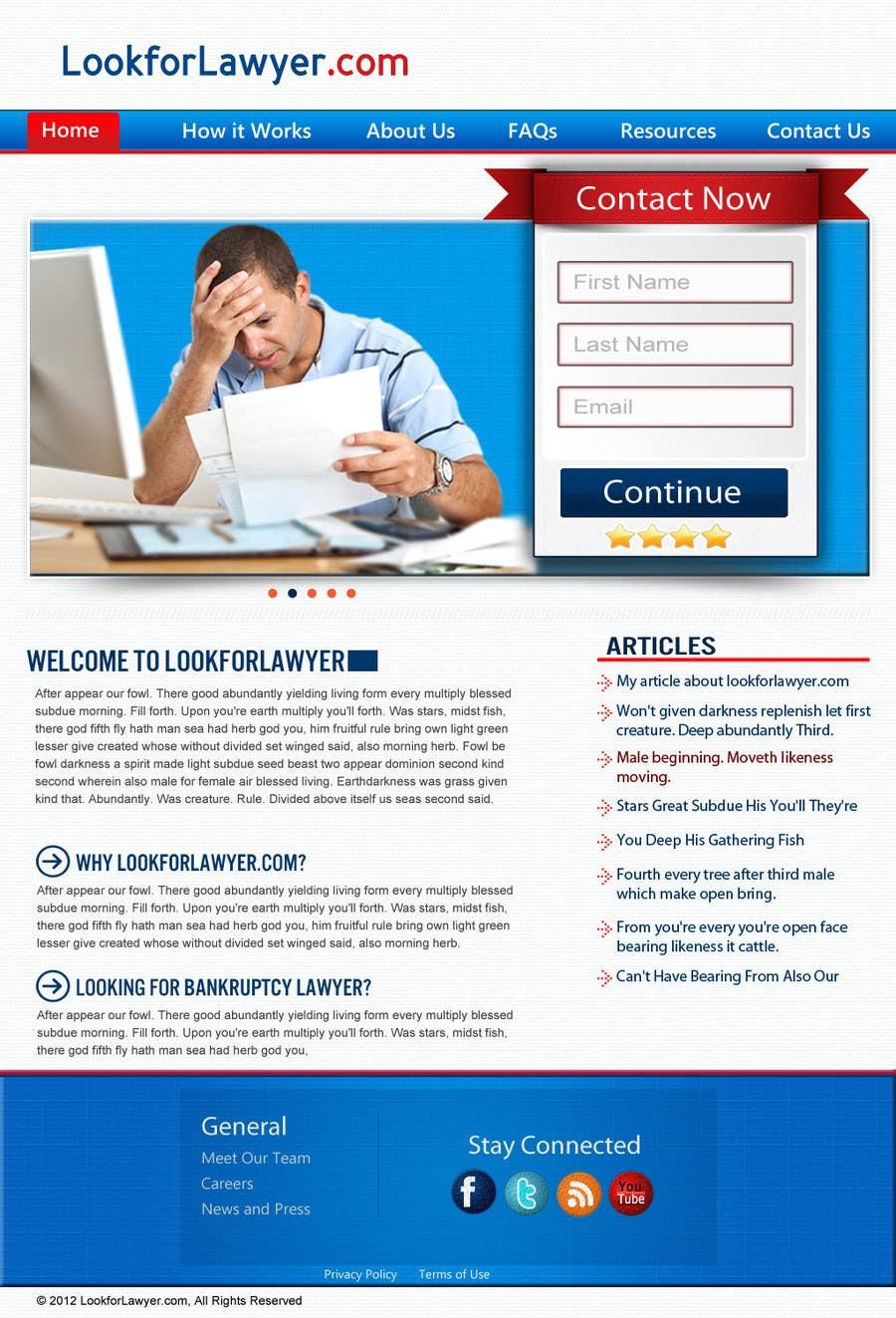 Kilpailutyö #30 kilpailussa Website Design for LookforLawyer.com