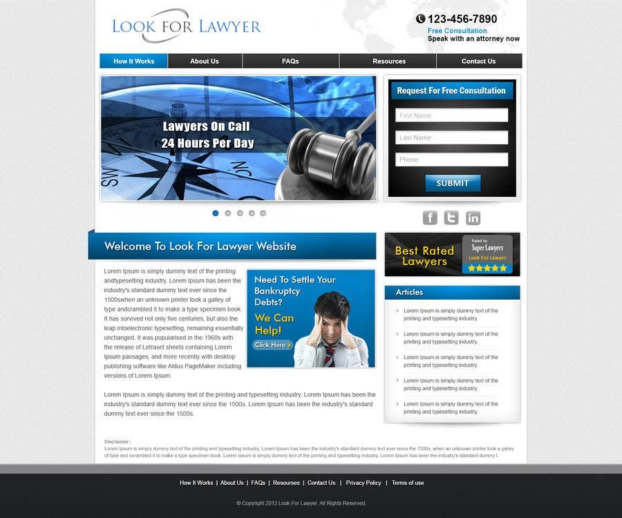 Конкурсная заявка №16 для Website Design for LookforLawyer.com