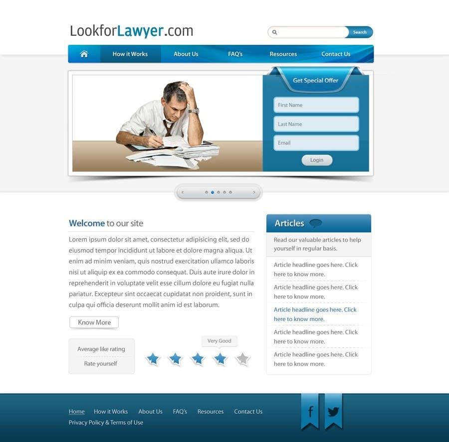 Kilpailutyö #47 kilpailussa Website Design for LookforLawyer.com