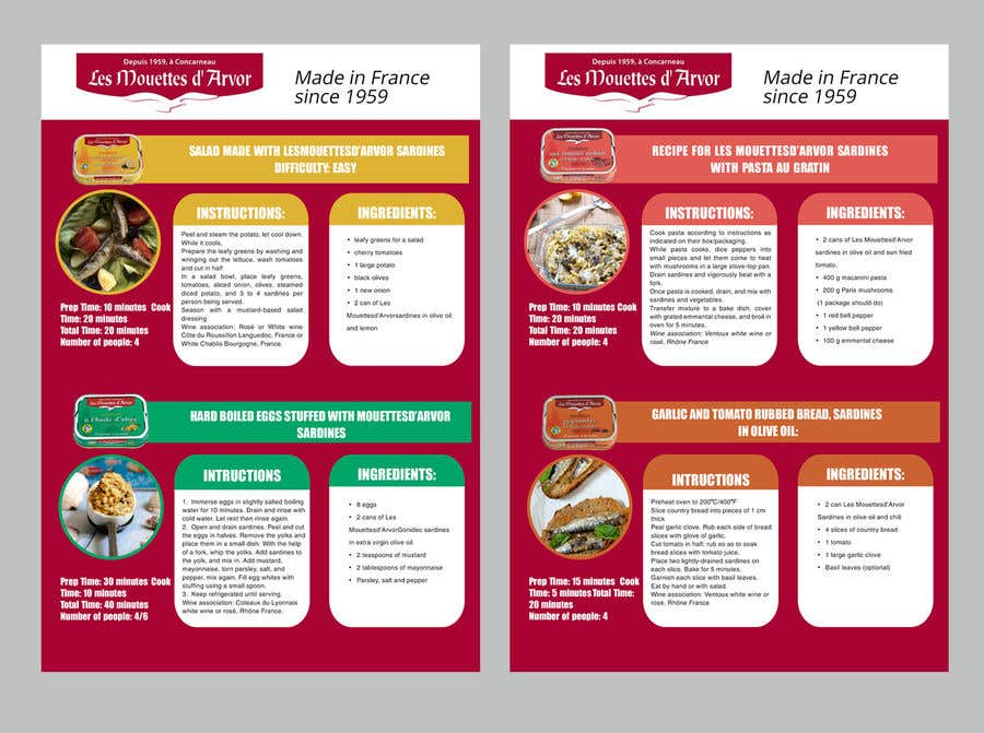 Entry #43 by maidang34 for Design a Brochure - food recipe