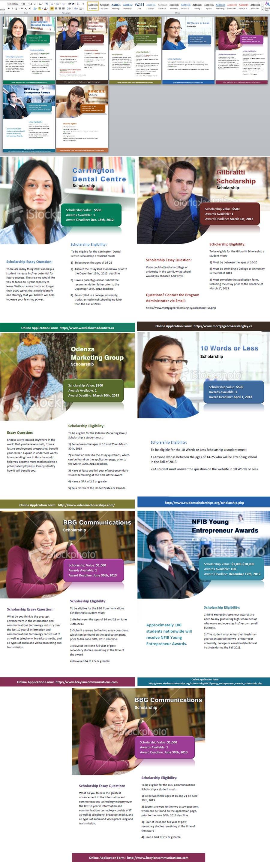 Bài tham dự cuộc thi #                                        12                                      cho                                         Advertisement Design for StudentScholarships.org