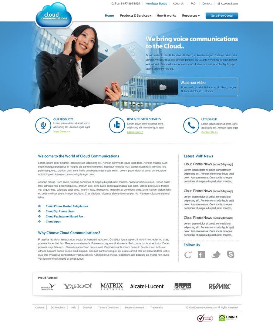 Конкурсная заявка №11 для Wordpress Theme Design for Cloud-Phone Inc.