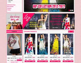 #47 untuk Website Design for Dresses Fashion Site oleh kosmografic