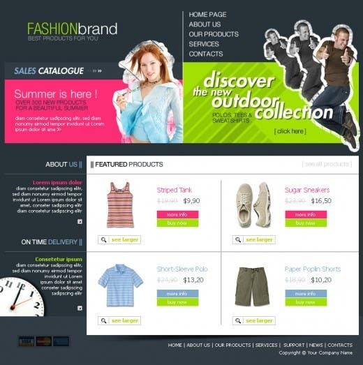 #37 for Website Design for Dresses Fashion Site by Acme1Asif