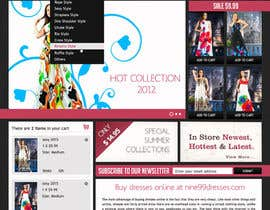 littlepixelWS tarafından Website Design for Dresses Fashion Site için no 44
