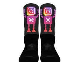 Nro 3 kilpailuun Silky Socks Design Contest - Instagram Sock Design käyttäjältä SpartakMaximus