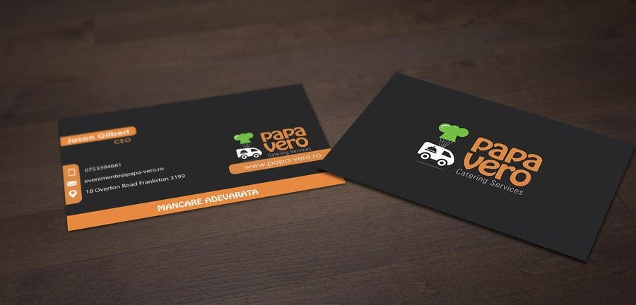 Business Card Catering Firm