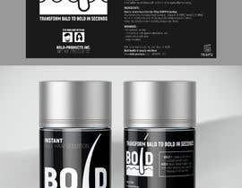 #46 cho Design a Hair Product Label that is Clean, portrays Confidence, and is BOLD bởi ghielzact