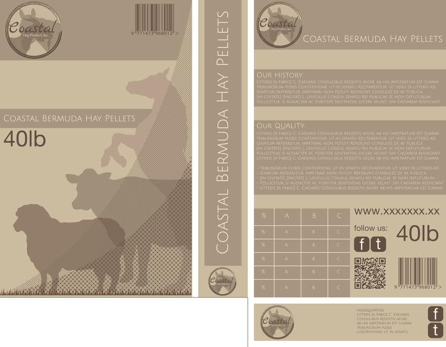 Конкурсная заявка №48 для Print & Packaging Design for Coastal Hay Products, Inc.
