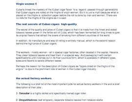 Nro 1 kilpailuun The myth of virgin women Cuban cigar rollers käyttäjältä Prof121212