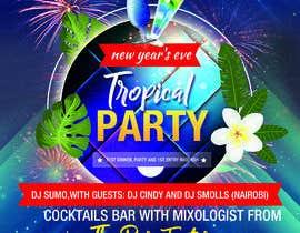 Nro 4 kilpailuun New year's eve party poster! käyttäjältä fourtunedesign