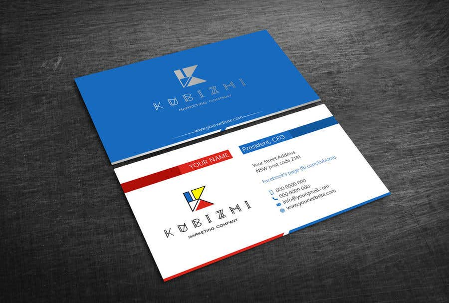 Entry 14 by yatusher786 for i need to design facebook page business card colourmoves