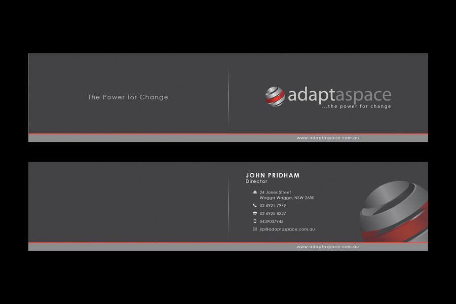 Konkurrenceindlæg #                                        43                                      for                                         Business Card for adaptaspace
