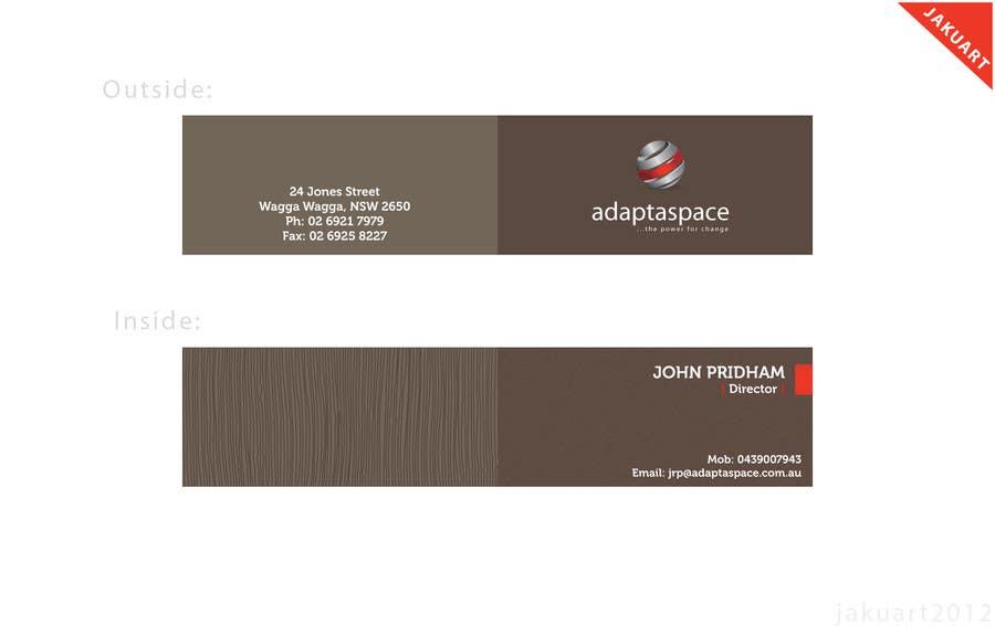 Konkurrenceindlæg #                                        13                                      for                                         Business Card for adaptaspace