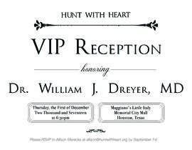 Nro 24 kilpailuun VIP reception Invitation käyttäjältä Moulogodesigner