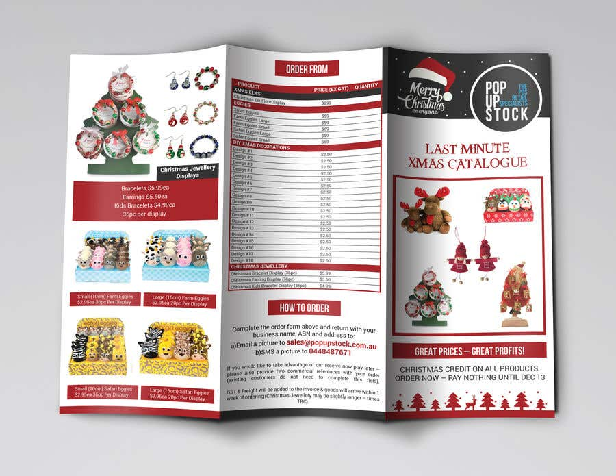 Entry 17 By Cfbutterfly For Create A Christmas Themed Tri Fold Brochure Product Catalogue Freelancer