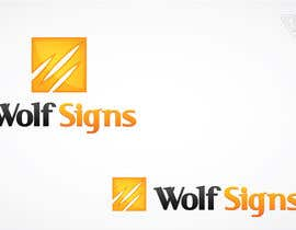 #119 cho Logo Design for Wolf Signs bởi Ferrignoadv