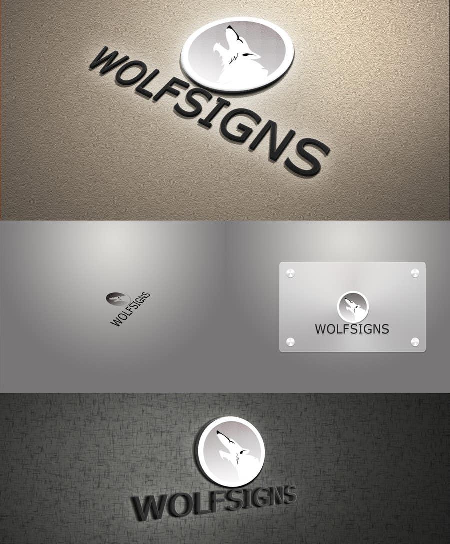Конкурсная заявка №27 для Logo Design for Wolf Signs